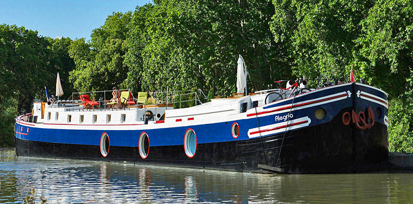 Alegria barge cruise on Canal du Midi, South of France