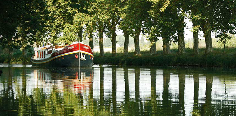 Alouette barge cruise on Canal du Midi, South of France