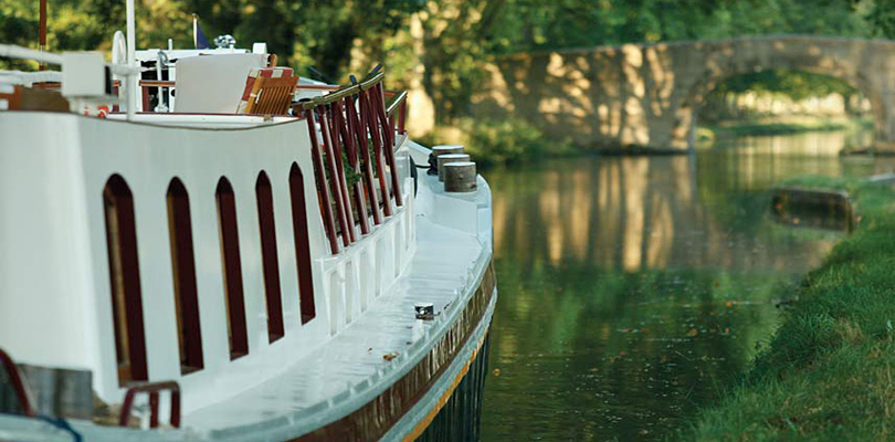Alouette moored on Canal du Midi