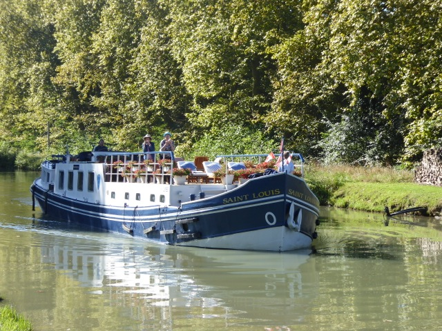 Barge Saint Louis floating the Garonne Canal