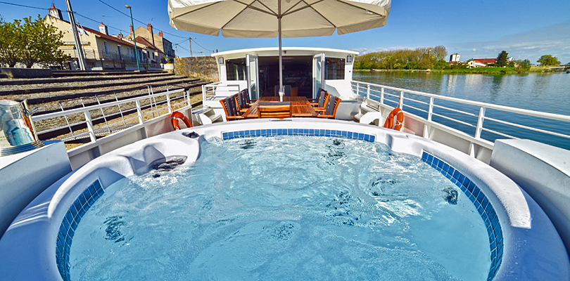 Finesse large deck spa/pool