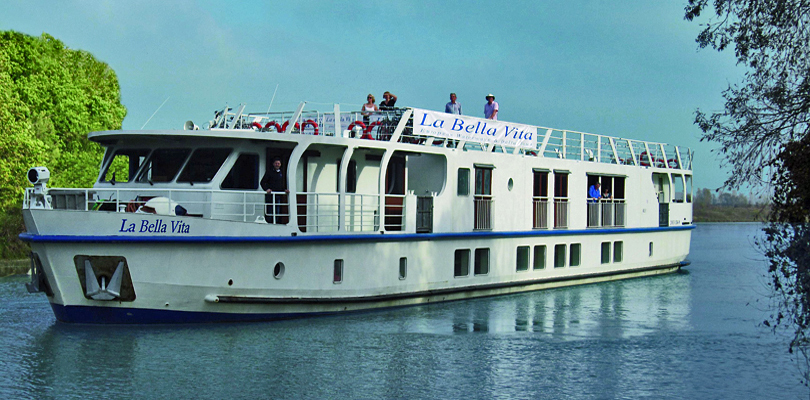 La Bella Vita river barge, cruises between Venice and Mantua, Italy river barge cruise between Venice and Mantua, Italy