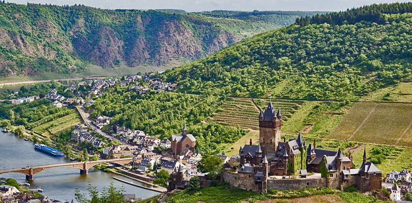 Castles dot the Moselle River Valley