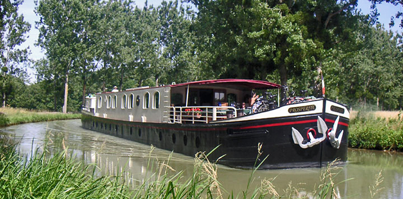 Prosperite barge cruise on Burgundy Canal, Southern Burgundy