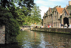 Visit Bruges, the 'Venice of the North', as you cruise on the barge La Nouvelle Etoile