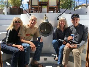 4 happy guests on board Alegria