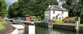 Typical lock house on the river Thames
