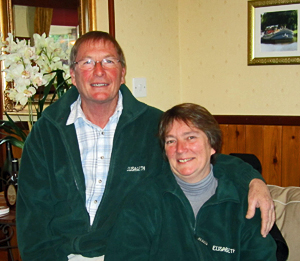 Elisabeth owners/operators Peter and Sheena Jenner