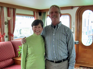 La Nouvelle Etoile owner/captain Jan Meijer with Beth