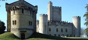 Chateau de Roquetaillade in the Bordeaux wine region