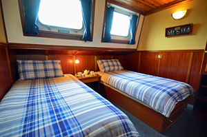 Scottish Highlander twin staterooms