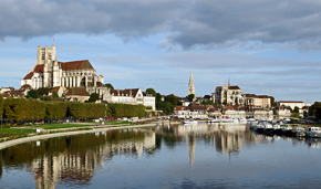 Auxerre borders the Yonne River