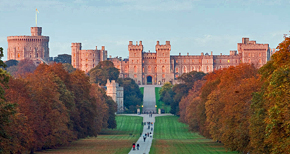 Windsor Castle, the royal residence of Queen Elizabeth of England
