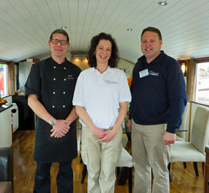 Esperance Chef, Hostess and Captain Roger Gronow