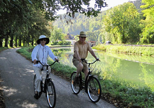 Prosperite biking along towpaths