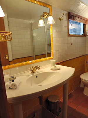 Ensuite bathroom in all staterooms