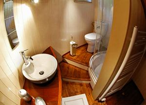 Ensuite bathrooms aboard Alegria