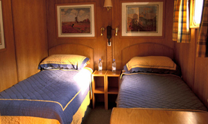 Napoleon twin bedded stateroms with ensuite bathrooms