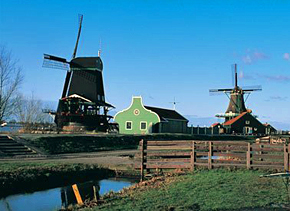 Cruise through Holland, country of windmills, clogs and cheese
