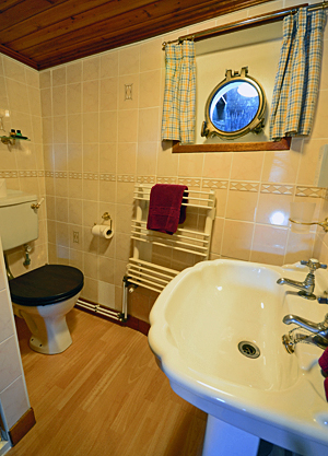 Scottish Highlander ensuite bathrooms
