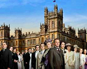 Highclere Castle in Hampshire, filming location of Downton Abbey TV series