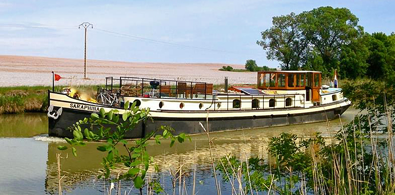 Saraphina barge cruise on Canal du Midi, South of France