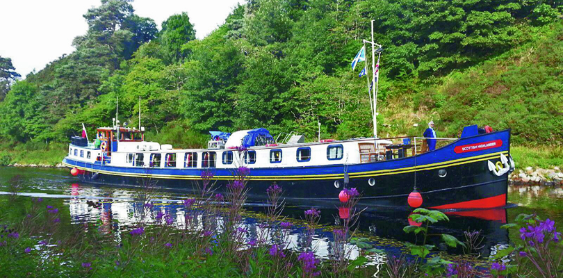 Scottish Highlander on Caledonian Canal