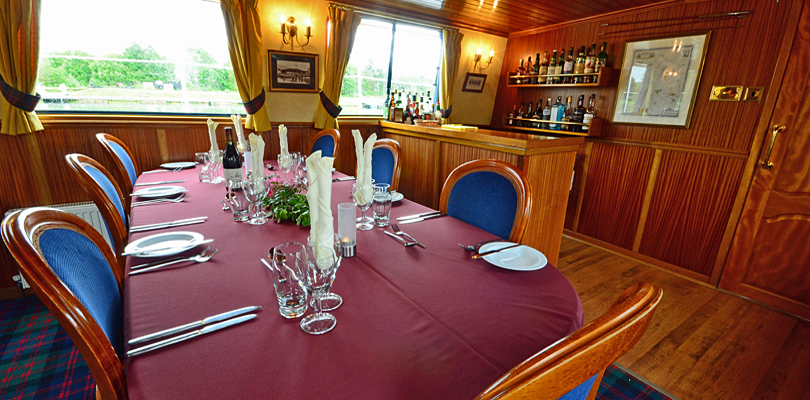 Scottish Highlander dining